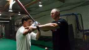 Private baseball lessons hitting pitching
